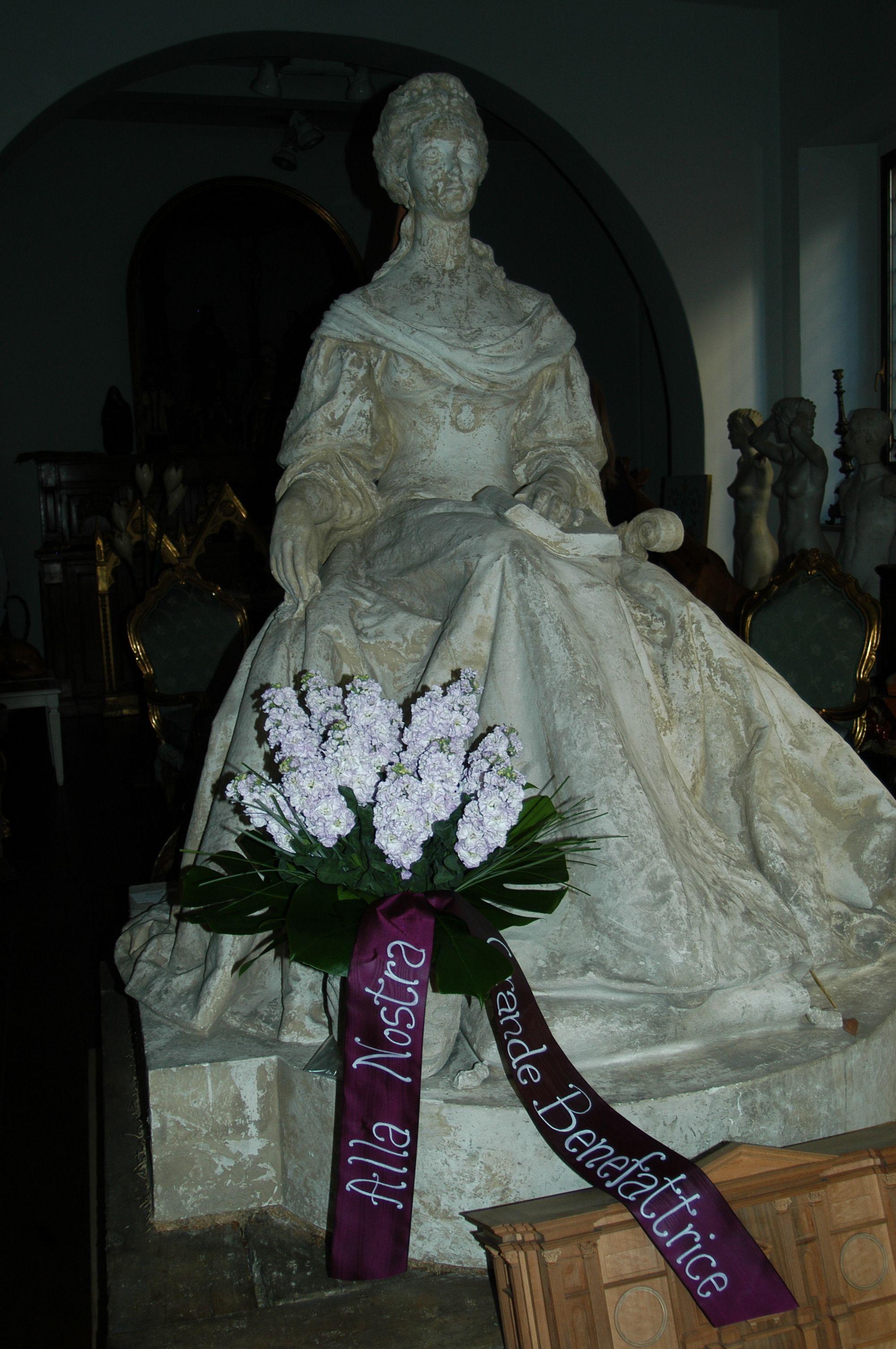 omaggio floreale all' Elettrice Palatina-Bartolozzi